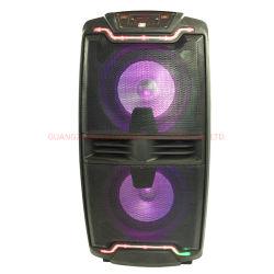 bateria recarregável de 8 polegadas Duplo Leisound Carrinho Alto-falante para Utilização no Exterior