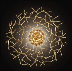 نمو زخرفيّة ألومنيوم نحاس أصفر جدار ضوء مصباح لأنّ دار/فندق ردهة