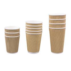 Einweg-Papierbecher Heiß / Kalt Getränk Single / Wellpappen / Double Wall Kaffee-Papierbecher Heiße Verkaufsprodukte