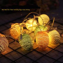 Oeuf de Pâques LED lumière décorative Chaîne de la batterie