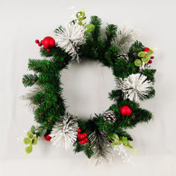 Light를 가진 결혼식 Home Christmas Decoration Green Leaves Artificial Garland