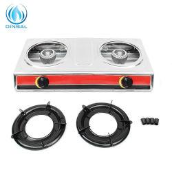 가정용품 탁상 스테인리스 2 가열기 가스 스토브 (DS-GSS201)