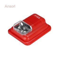 100dB Sirena alarma Testigo estroboscópica LED