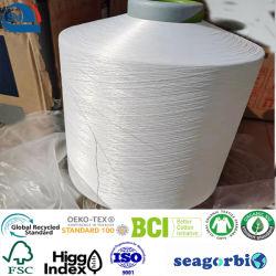 DTY 재활용 폴리에스터 면 디티 엔벌마일 폴리에스테르 다이티 면사 폐기물 (증명서: 오코텍소 - 텍소텍스 100/GRS/BCI/GOTS)