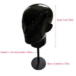 Стекловолоконные головки черного цвета Мужской презентационный манекен Red Hat Wig очки дисплей модели