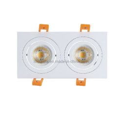 3 W * 2-8 W * 2 quadratische LED-Deckeneinbauleuchte mit Doppeltem Punktlicht, Wohn-LED-Downlight mit Option GU10/MR16/Gu5.3 Lampensockel