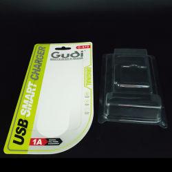 Sellado en caliente personalizado resistente embalaje blister de plástico transparente con tarjeta de papel