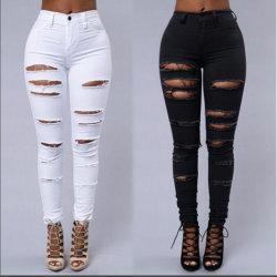 De in het groot Gescheurde Jeans van de Broek van het Denim van de Douane Vrouwen