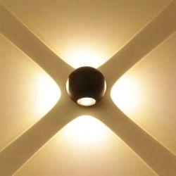 7W COB en el interior Iluminación exterior IP65 4 Jefes de lámparas de leds