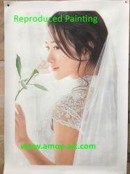 El envío Pintura al Óleo Retrato hecho personalizado de foto
