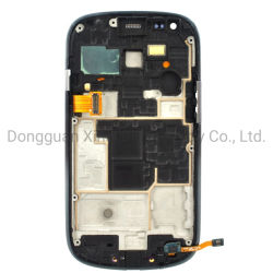 لوحات LCD للهاتف الخلوي لـ Samsung Galaxy S3 Mini I8190 شاشة العرض شاشة العرض البديلة شاشة العرض مجموعة جهاز الالتقاط الرقمي مع الإطار