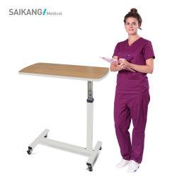Skh042 mobili in legno robusto Mobili ospedale regolabile medico Overbed Table Con ruote