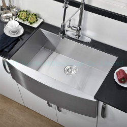 وعاء فردي 33 × 21 × 10 بوصات ملحقات خزانة أنيقة المئزر خزف أدوات يدوية الصنع مطبخ من الفولاذ المقاوم للصدأ في Has3321