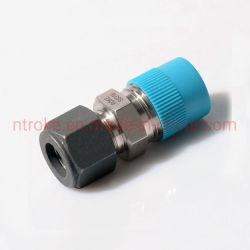 موصل ذكر واحد لوصلة حلقة واحدة لنظام ضغط الفولاذ المقاوم للصدأ SS316