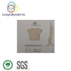 Lado de malhas de fios de fita de algodão para lenços Ly-C025