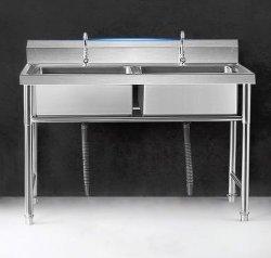 Коммерческие кухонного оборудования 201/304 раковиной из нержавеющей стали с подставкой