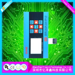 Mostrar el botón interruptor de membrana teclado matricial de 6 Botones del Panel de control con luz LED