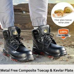 本革オイル抵抗力の作業安全靴の製造業者は複合スチールのつま先、金属自由な CE S3 の人及び女性の価格のための工業用作業安全靴