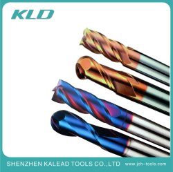 Qualität passen Flöte-Enden-Tausendstel-Hartmetall-Ausschnitt-Hilfsmittel des Prägescherblock-4 für CNC-Prägewerkzeugmaschinen an