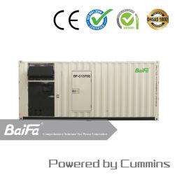 1100kw contenedores Contenedor de 20 pies de energía eléctrica y gas/Generador Diesel Motor Cummins Powered by