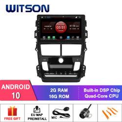 Witson 9-дюймовый экран Car DVD плеер на базе Android 10 Toyota Vios 2008 (автоматический кондиционер воздуха)