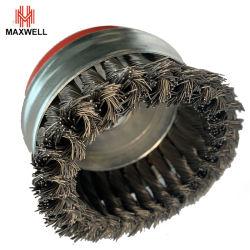 Tazón de acero trenzado alimentación de la Copa de desincrustación Cepillo de alambre de hierro de metal pulido