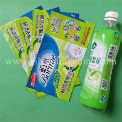Impresa personalizada PVC fundas termocontraíbles Tubo para botella de jugo de la etiqueta