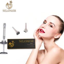 Produit de beauté par voie cutanée de 2 ml de remplissage de l'acide hyaluronique à façonner le contour du visage