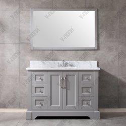 Classico dispersore grigio e Governo della stanza da bagno di legno solido da 48 pollici singoli combinati