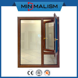 Деревянные алюминиевые опускное стекло с 304# оборудования из нержавеющей стали для жилых