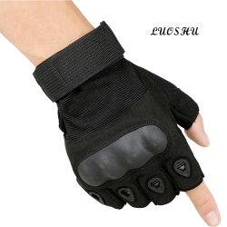 Nieuwe Outdoor sporthandschoenen half Finger Rubber Hard Knickle Cycling Tactische motorcycle handschoenen voor sport