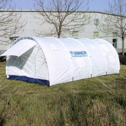 Refuge d'urgence des Nations Unies Tente tunnel de secours en cas de catastrophe