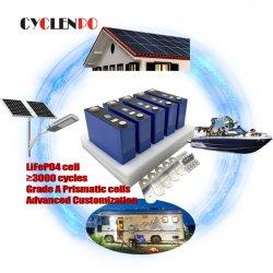 리튬 프리즘 세포 3.2V 100ah 200ah LiFePO4 건전지 Li 이온 태양과 EV를 위한 3.2 볼트