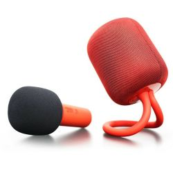 Ik8 Alto-falantes sem fio Bluetooth Gravador Portátil KTV Microfone Caixa de som para Xiaomi de Karaoke