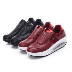 HellosportのソックスのプラットホームPUの革振動のすべり止めのスリップを高めるカスタムロゴの女性の適性の高さは靴を詰め込む