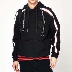 Mens su ordinazione francese Hoodies del cotone del Terry afflitto commercio all'ingrosso Hoodies