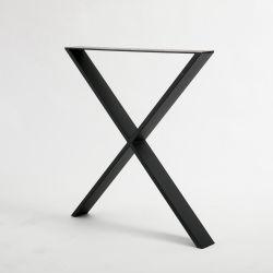 Mesa de Café pernas para Serviço Pesado Industrial forjado preto revestimento em pó da estrutura em forma de X banco de Ferro Fundido lateral mesa de café Pernas Metal