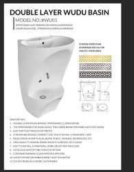 Badezimmer-gesundheitlicher Ware-moderner Form-doppelte Schicht-doppelte Wannen-weißer Farben-Form-Kunst-Funktionsfühler-keramische Wäsche-Bassin-Badezimmer-Eitelkeit