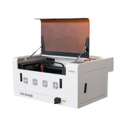 Máquina de corte de gravação a laser de CO2 para carimbo de borracha 60W 40W