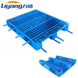 HDPE 엣지 중부하 작업용 창고 보관 플라스틱 팔레트(8개 포함 강철 보강