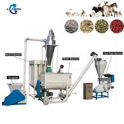 Мелких 500кг/ч 1000кг/ч кормов для скота Пелле производственной линии