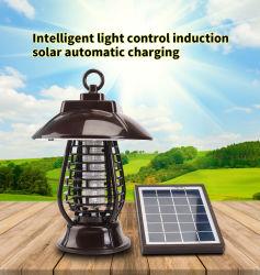 2021 China de la luz de la trampa de mosquito USB Solar Powered LED Anti mata mosquitos lámpara UVA asesino matando a 2 en 1 LED de 24 de la luz solar