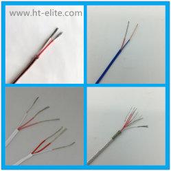 Compensación de termopar tipo K de la fibra de vidrio el cable 20 AWG