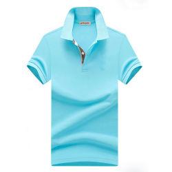 Asciugare la camicia di polo del cotone di polo della camicia degli uomini normali adatti di golf
