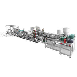 طرد مزدوج ببرغي مزدوج ورقة بلاستيكية، PP/PS ورقة تشقشرة، آلة صنع ورقة بلاستيك ملونتين، آلة بلاستيك للطباعة أثناء الاستحمام