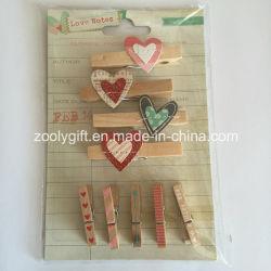 En forme en bois Clothespin / Decorative Mini chevilles de bois