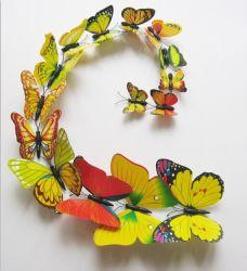 3D papillon en plastique décoration murale (SR001)