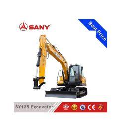 Sany Sy135 13.5tonの小さい掘削機の小さい地球移動装置