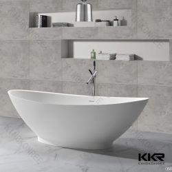 주문을 받아서 만들어진 아크릴 단단한 지상 돌 독립 구조로 서있는 욕조 목욕탕 통