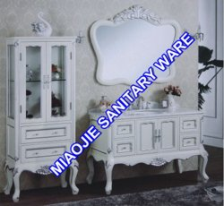 128 см старинной цельной древесины дуба туалетный столик в ванной комнате (MJ-422)